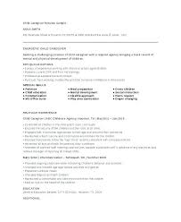Sample Of Resume For Caregiver A Duties