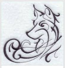 If I Did Get A Wolf It Would Be This Beautiful Style Cool Tattoo Idea From An Embroidery Pattern Ooowith Winter Is Coming