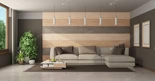 modernes wohnzimmer mit sofa gegen holzvertäfelung foto archideaphoto auf envato elements