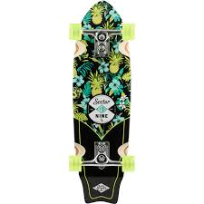100 Sector 9 Trucks Wavepark 16 Black Green Complete Cruiser Skateboard