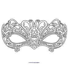 Modèle De Masque De Carnaval à Imprimer