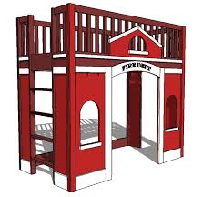 ana white fire station loft bed diy projects