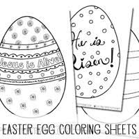 Free Printable Easter Egg Coloring Sheets For Home Church Outreach Or
