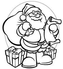 Gifts Santa Coloring Page
