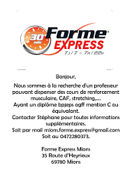 offre d emploi agff forme express mions formasport