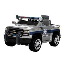 100 Chevy Silverado Toy Truck Rollplay 6Volt PoliceW460CPT The Home Depot