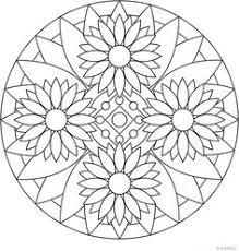Printable Mandala Meditation Beautiful Coloring Pages