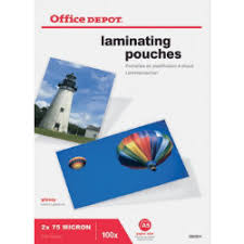 fice Depot Laminating Pouches 150 2 x 75 Micron A5 Clear Gloss