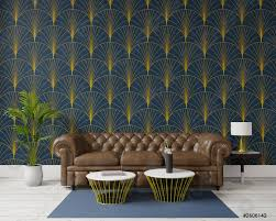 foto auf lager 3d rendering großes wohnzimmer innenarchitektur deco stil großes braunes sofa dunkelgrüne wand für attrappe und kopierraum