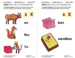 Identify the Letter X Lesson 9 Book 15 Newitt Decoding Series