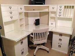 Pottery Barn Office Desk Chair by Pottery Barn Bedford Corner Desk Hutch Chair And Acrylic Desktop