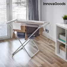 étendoir à linge électrique pliable innovagoods 100w gris 6
