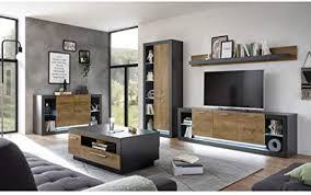 industrial style wohnwand komplett set mit kommode und