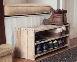 A Small Wood Pallet Shoe Rack Easily Stores Nine Pairs Of Shoes Slippers And