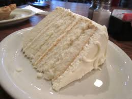 A slice of the white cake