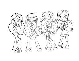 Bratz Girls Coloring Page Color Online Print