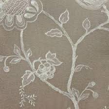 Jacobean Floral Curtain Fabric jacobean ivory on taupe albany fabric collection f501 07