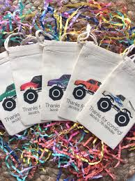 99 Monster Truck Party Favors Custom Muslin Cotton Bags Set Etsy