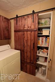 EPBOT: Make Your Own Sliding Barn Door - For Cheap! White Sliding Barn Door Track John Robinson House Decor How To Epbot Make Your Own For Cheap Knotty Alder Double Sliding Barn Doors Doors The Home Popsugar Diy Youtube Rafterhouse Porter Wood Inside Ideas Best 25 Interior Ideas On Pinterest Reclaimed Gets Things Rolling In Bathroom Http Beauties American Hardwood Information Center Design System Designs Tutorial H20bungalow
