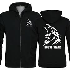 house stark hoodie game of thrones house stark logo cool wolf head