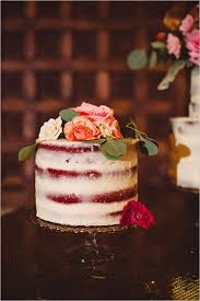 Almost Naked Wedding Cake Weddingchicks Red Velvet