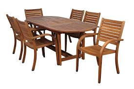 8 Person Patio Table Dimensions by Amazon Com Amazonia Arizona 7 Piece Eucalyptus Oval Dining Set