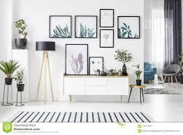 poster im wohnzimmer stock abbildung illustration blau