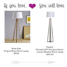 Wooden Tripod Floor Lamp Target by If You Love The West Elm Tripod Wood Lamp You Will Love This
