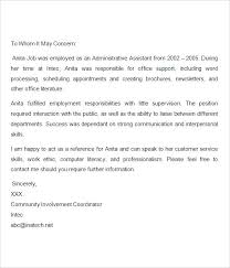 Reference Letter For Job Resume Sample Recommendation Cover