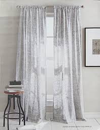 dkny set of 2 extra long window curtains panels 50 by 96 inch