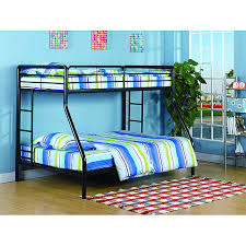 Dorel Twin Over Full Metal Bunk Bed by Dorel Twin Over Full Metal Black Bunk Bed With Set Of 2 Mattresses