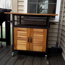 Outdoor Serving Cart With Storage
