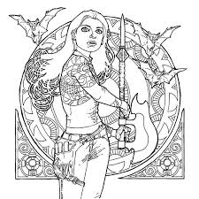 Buffy The Vampire Slayer Adult Coloring Book Additional Image Click To Zoom