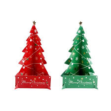 New Festive Party Supplies Christmas Decorations Paper Material Small Red Green Tree