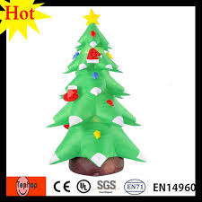 6m 20ft Manufacturer Large Inflatable Led Christmas Tree Light Decorations 420D Oxford