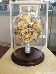Preserved bridal bouquet real flowers from a wedding dried and