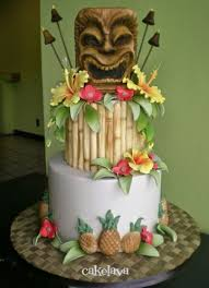 Image Result For Tiki Themed Wedding Luau CakesParty
