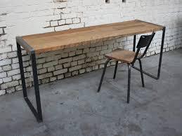 bureau industriel metal bois bureau b 14 bu001 giani desmet meubles indus bois métal et cuir