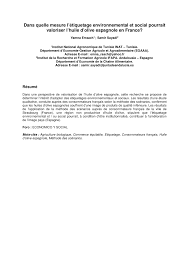 si e social du cr it agricole consumer preferences for olive pdf available