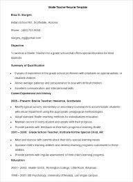 Resume Samples For Teachers Teacher Templates Free Sample Example Format Latest