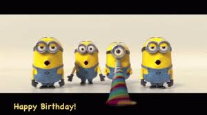 Minion Singing Happy Birthday GIF Minions HappyBirthday Greetings Discover & GIFs