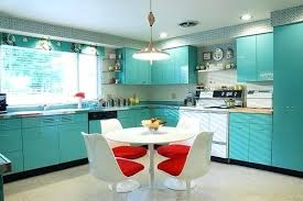50s Vintage Kitchen Curtains S Birch Cabinets On Lights Floor Sink Style Retro Kitchens