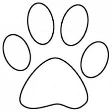 Paw print outline clipart ClipartPost