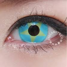 Cheap Prescription Colored Contacts Halloween by Buy Geo Animation Yellow Blue Star Costume Contact Lenses Eyecandys