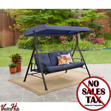 outsunny deluxe swing hammock bed hanging daybed metal canopy