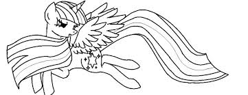 Coloring Pics Detail Name My Little Pony Pages Princess Twilight Sparkle Alicorn