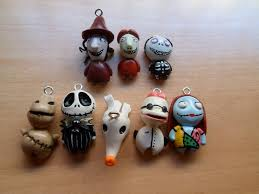 Nightmare Before Christmas Tree Toppers Bauble Set by Nightmare Before Christmas Charms By Lunatica Reiko Polymer