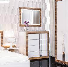 kommode schlafzimmer schubladenkommode 96cm birne weiß hochglanz