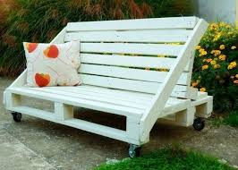 creative idea diy brown pallet wood bench seat fear twin brown
