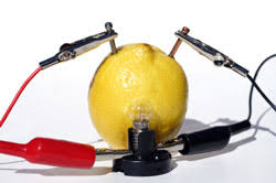 kitchen science for a fruit battery out of a lemon
